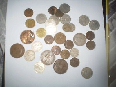 Job Lot of Old & Modern Mixed UK & European World Foreign Coins 120+ .5kg