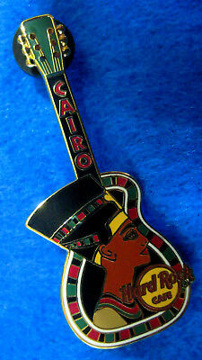 RARE CAIRO ANCIENT EGYPTIAN QUEEN NEFERTITI HEAD GUITAR Hard Rock Cafe PIN