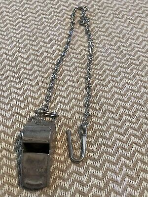 Vintage Military Whistle w/ Lanyard ~ Made in U.S.A.!!!!!!