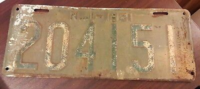 1921 NEW JERSEY NJ LICENSE PLATE 204151 Vintage Collectible