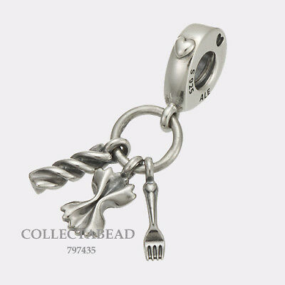 281c9bb1c LOVE PASTA AUTHENTIC PANDORA Silver ITALY Dangle Charm 797435 NEW w ...