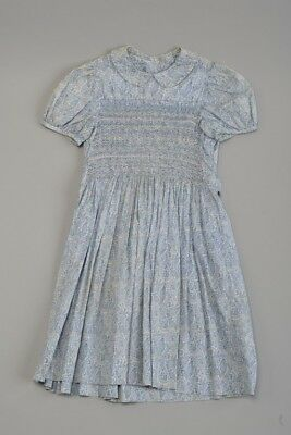 Young Girls 1950s' Summer Dress With Smocking. Ref 410