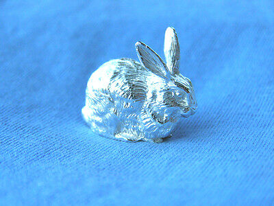 Silver Rabbit Model.  Hallmarked Sterling Silver Rabbit Figure Made In England