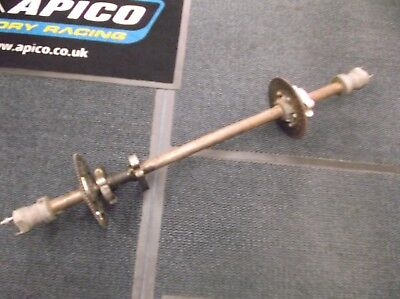 go kart classic 100cc 40mm rear hollow axle and components inc hubs
