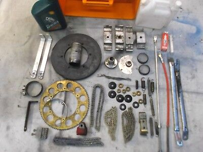 go kart classic 100cc parts selection useful parts,springs,oil ect + storage tub