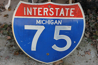 Antique Michigan State Highway 75 Shield Sign