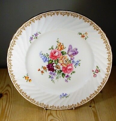 """Crown Staffordshire """"England's Bouquet"""" F15831 Large Dinner Plate"""