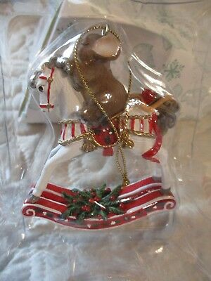 Charming Tails Fitz & Floyd Christmas ROCKING HORSE Ornament 86/150 New in Box