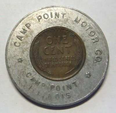 Camp Point Illinois Motor Co 1948 Encased Cent