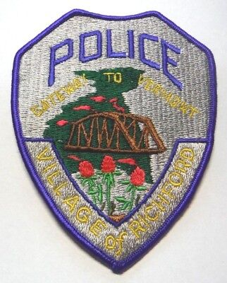 Old Richford Vermont Police Patch Unused