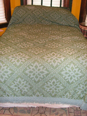 Vintage Terry Chenille Bedspreads 2 Matching Candlewick Cutter Bedspreads