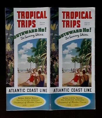 Atlantic Coast Line 1936 Tropical Trips -Florida Special Jubilee -EXC