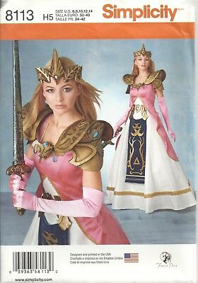 Simplicity 8113 Misses' Size 6-14 Warrior Princess Costume Sewing Pattern