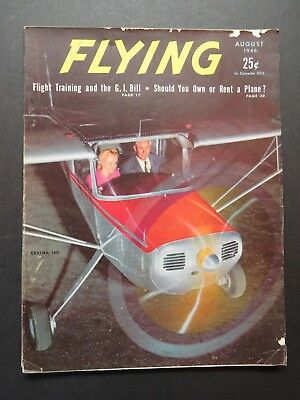 8/1946 Flying - Ercoupe Test Pilot Report / Aeronca Chief / Cessna 140 + More
