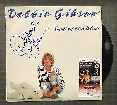 Debbie Gibson Signed OUT OF THE BLUE Record Album Vinyl Autographed JSA COA