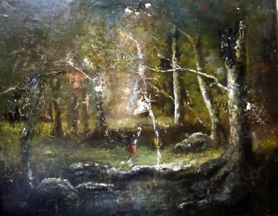DIAZ Period Antique 19th Century Large French BARBIZON Oil Painting- Restoration