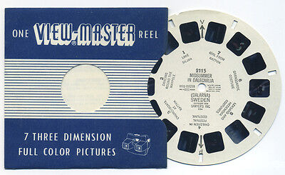 Midsummer in Dalecarlia Dalarna Sweden 1955 ViewMaster Single Reel 2115