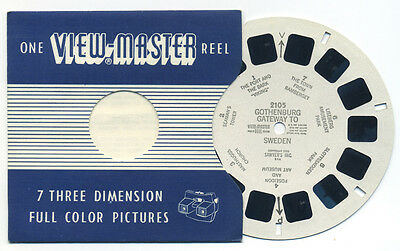 GOTHENBURG Gateway to Sweden 1955 Belgium-made ViewMaster Single Reel 2105