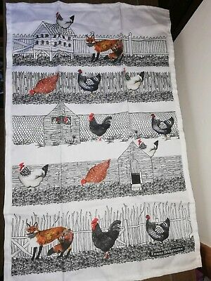 Emma Bridgewater Hen / Chicken and Fox Tea Towel Brand New with tags