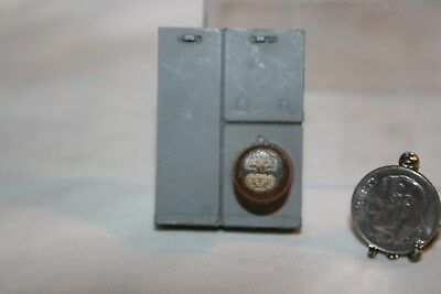 Miniature Dollhouse Vintage Outdoor Aged Electric Meter 1:12 NR