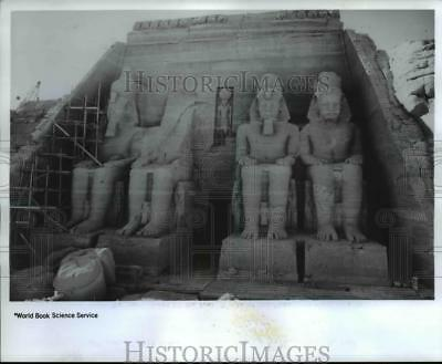 1968 Press Photo The four colossi of the Great Temple of Abu Simbel. - cvb07893