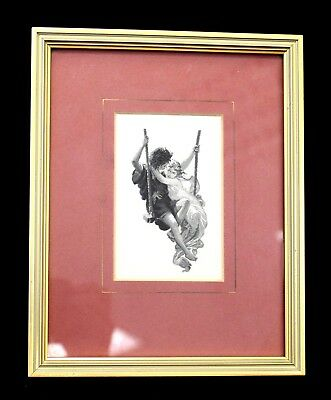CASH'S French Series 'Le Printemps' EMBROIDERED ARTWORK / Framed - B10