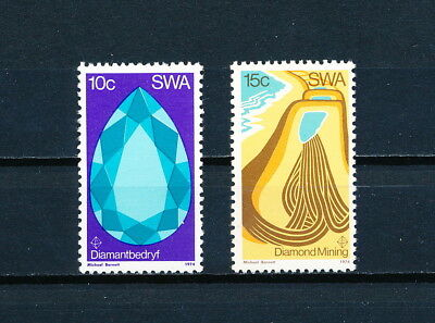 S.W. Africa 370-1 MNH, Diamonds, 1974