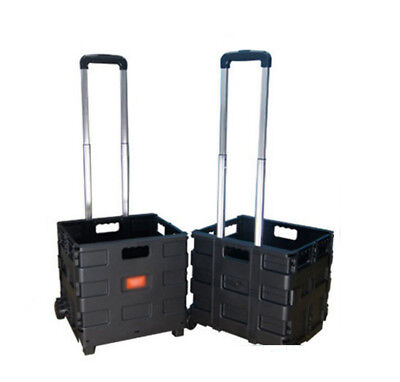 A6 Folding Aluminium HeavyDuty Luggage Trolley Hand Truck Foldable Shopping Cart