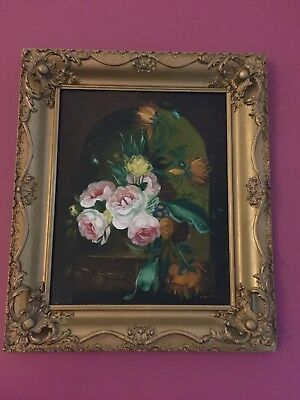 Picture Frame-Vintage Old gold flowers Ornate Antique Style Baroque Wood
