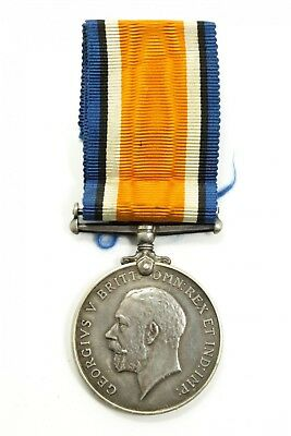 Antique Estate Found British War Medal 1914-1918 WWI Era Silver Medal