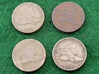1858 Flying Eagle Cents - (Lot Of 4)