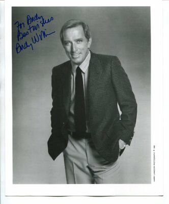 moon river Andy Williams signed autograph NO RESERVE B5185