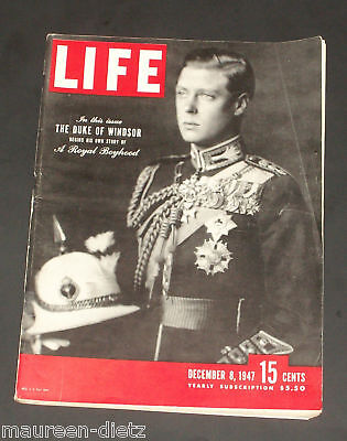 December 8, 1947 LIFE Magazine 40s Advertising ads add ad  FREE SHIPPING Dec 12