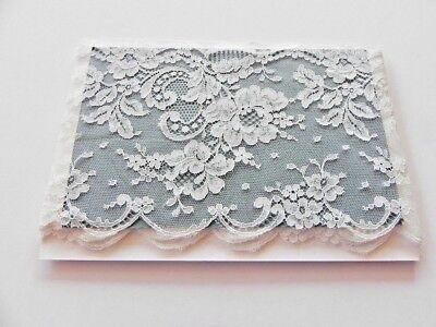 Card of  New Very Wide Lace - White B