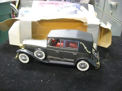 Vintage 1928 Lincoln Model L Convertible AM Solid State Radio w/ Box