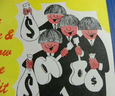 Vintage Credit Union / Bank Ad / The Beatles ? Save and Borrow Doesn't Everybody