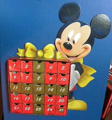 Disney Mickey Mouse Advent Calendar with 25 Mickey ornaments December Christmas