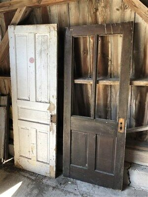 Set Of 10 Vintage Wood Doors Architectural Salvage Trim Paned Unpaned Panel a24