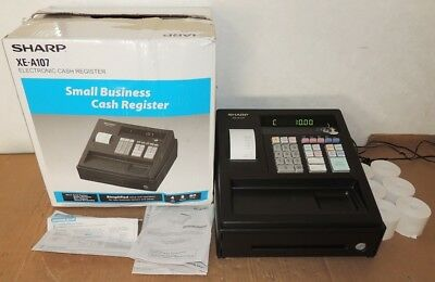 Sharp Xe-A107 Cash Register Excellent In Box