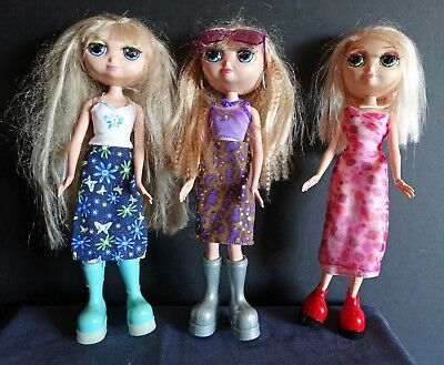 Lot of 3 Talking Fashion Diva Starz Dolls Alexa & Miranda