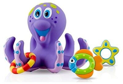 Baby Toy Bath Octopus Floating Tub Rings Toss Toddler Safe Child Gift Fun Play