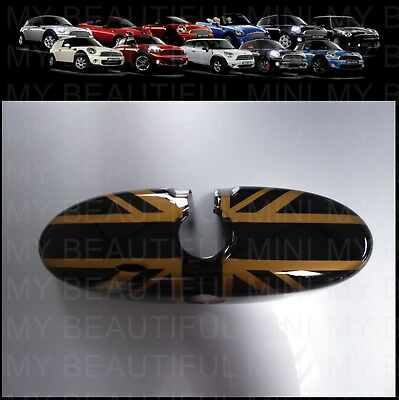 MINI Cooper/S/ONE R50 R55 R56 R57 R60 R61 black Gold UJ Rear View MIRROR Cover