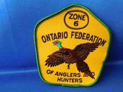 Ontario Federation Of Anglers & Hunters Conservation Fish Zone 6 Patch Vintage