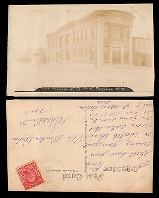 Antique 1909 RPPC of RUSSELL STATE BANK in RUSSELL KANSAS