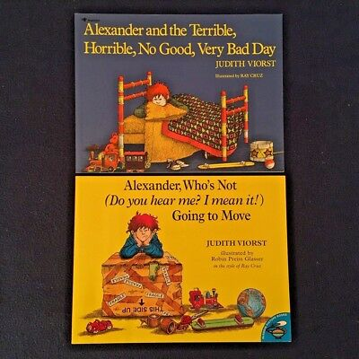 2 Lot Children's Picture Books by Judith Viorst: Alexander Series - PBs NEW GIFT