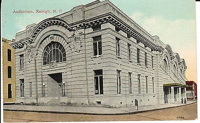 Early 1900's The Auditorium in Raleigh, NC North Carolina PC