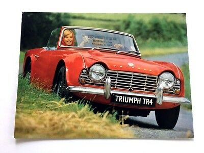 1963 TRIUMPH TR4 TR-4 Original Vintage Car Dealer Sales Brochure Catalog