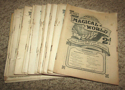 Lot Of Vintage The Magical World Magazines 1900's Volumes 1-36