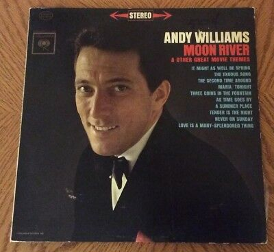 Andy Williams Record Lp - Moon River - 1962 - Stereo - Columbia Cs 8609