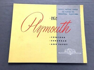 1953 Plymouth Original Vintage Canada Car Sales Brochure Catalog - Concord Savoy